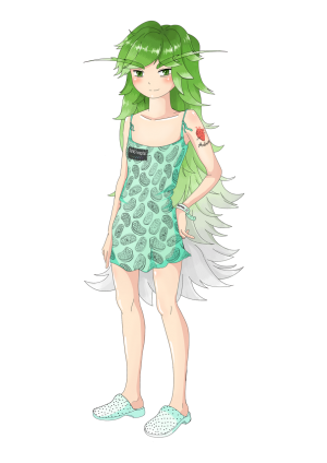 Longevity-chan, created by and as a mascot for the life-extension advocacy community